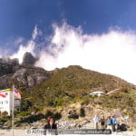 Laban Rata resthouse and Mt Kinabalu